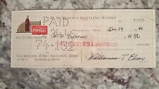 1946 vintage coca cola check to The Miners' National Bank ishpeming, MI Jan 19th