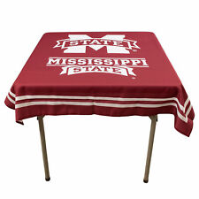 """Mississippi State University Bulldogs 48"""" Table Cloth Overlay"""