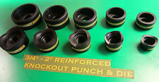 "GREENLEE  STYLE  3/4 TO 2"" CONDUIT KNOCKOUT PUNCH  , 5 PCS , NEW FREE SHIPPING"