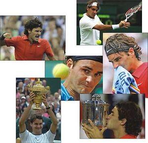 Roger Federer Tennis Legend Set of 6 Postcard Set