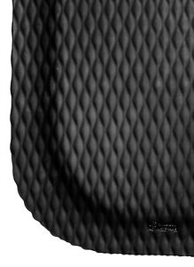"2' x 3' 7/8"" Thick Black Hog Heaven Heavy Duty Commercial Anti Fatigue Mat"