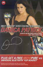 2008 Danica Patrick/Tony Kanaan Motorola SEMA Show Promo Indy Car postcard