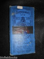 Vintage Ordnance Survey Map of Lower Clyde c1900 Paper/Cloth Scotland, Scottish