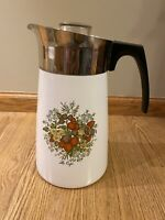 Vintage CORNING WARE Spice of Life Le Cafe 10 Cup Coffee Pot Percolator P-149-8