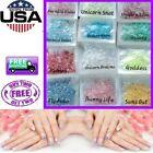 Unicorn Flakes * Cosmic Mylar Glitter Mix * Iridescent Rainbow Clear Nail Art