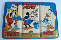 Vintage Disney Mickey Mouse Tin Watercolor Paint Box Made In England