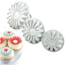 3 Pcs Cake Sunflowers Plunger Fondant Decorating Sugarcraft Mold Cutter Tools18X