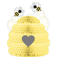 """BUMBLEBEE PARTY CENTREPIECE 9""""x11"""" BIRTHDAY DECORATION TABLE HONEYCOMB YELLOW"""