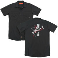 BATMAN HARLEY QUINN AND JOKER Adult Men's Dickies Graphic Work Shirt SM-3XL