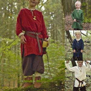 Medieval Renaissance Children's Tunic Shirt Viking Pirate Tops Halloween Costume