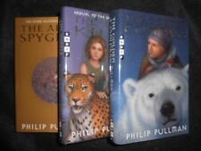 SIGNED 1st Eds - PHILIP PULLMAN - Dark Materials - Golden Compass/Spyglass/Knife