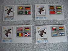 Briefmarken Flaggen Vereinte Nationen Zusammendruck ZD Ersttagsbrief 1985