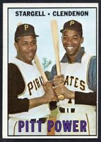 1967 Topps #266 PITT POWER Willie Stargell EX-EXMINT Pittsburgh Pirates FREE S/H