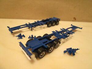 HERPA    ----  2 x  div. Container Trailer ---  KRONE ----