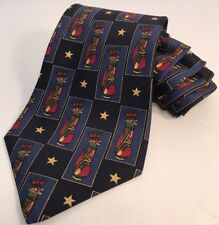 Tommy Hilfiger Mens Tie Golf Bag Star Pattern Blue Red Green Yellow