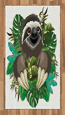 Sloth Area Rug Decorative Flat Woven Accent Rug Home Decor 2 Sizes