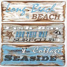 TOVAGLIOLI di carta 4x-segni da Spiaggia-per feste, Decoupage CRAFT