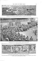 WWI Mitrailleuse Butte de Tahure Officiers Feldgrau Prisonniers A ILLUSTRATION