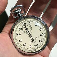 Stopwatch Zlatoust Watch Plant USSR Single Hand SERVICED Rare Soviet Sport SM-60