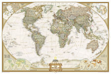 National Geographic - World Executive Map, Enlarged & Laminated Poster, 73x48