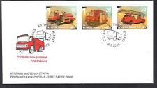 CYPRUS 2006 CYPRUS FIRE ENGINES FIREMEN NICE UNOFFICIAL FDC