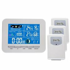Wireless Colorful Weather Station 3 Thermo Sensors Humidity Air Pressure RCC DCF