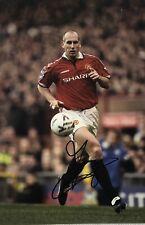 Jaap Stam Signed 12X8 PHOTO Manchester United Genuine AFTAL COA (1713)