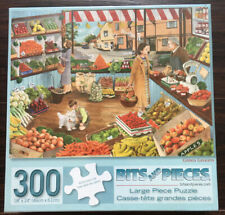 "SEALED * BITS & PIECES * GREEN GROCERS * TRACY HALL 300 PIECE 18"" X 24"" PUZZLE *"