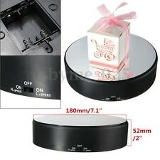 Battery Powered Jewelry Watch Phone Rotating Rotary Display Stand Turn Table