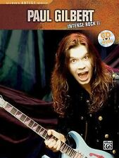 Paul Gilbert Intense Rock II Speed Picking Phrasing Guitar Tab Book Cd NEW!