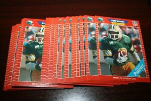 (43) 1989 Pro Set Football GIZMO WILLIAMS #535 Variation NO SCOUTING ON FRONT