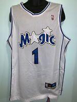 Orlando Magic 1 Tracy McGrady NBA Swingman Throwback Jersey White NWT