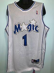 Orlando Magic 1 Tracy McGrady Basketball Swingman Throwback Jersey White NWT
