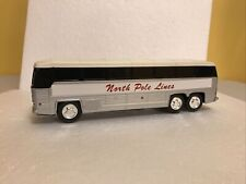 Plastic Bus Bank North Pole Lines Charter 10� Bus.