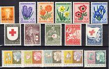 Nederland 601 - 616 Jaargang 1953 zonder de langlopende serie postfris