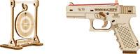 WOODEN CITY® The Guardian GLK-19 Holzpistole, Gummibandpistole, Holz Glock 19