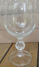 Bohemian Crystal Import Associates Claudia 6OZ Wine Glass Faceted Ball Stems 2