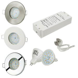 Bad Einbaustrahler IP65 12V + 4,5W LED und Trafo Lampe Licht Bdezimmerlampe Spot