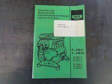 Hatz Diesel 2...4M31  2...4M40 Spare Parts List