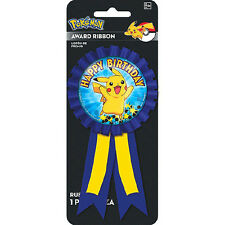 Pikachu & Friends Award Ribbon - Birthday Decorations Party Favor Supplies