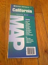 Vintage 1995 Rand McNally California State Map Bakersfield Fresno Lake Tahoe CA