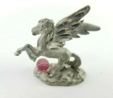 Spoontiques Cmr856 Pegasus Horse Galloping Over a Crystal Ball Pewter 1988
