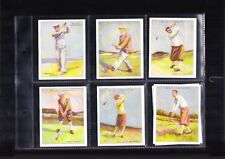 cigarette cards famous golfers reproductions full set