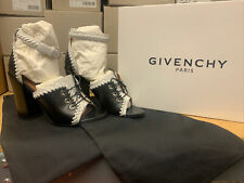 Givenchy Heels Black White Eyelets Tie Up Women's Pumps Sizes 37.5, 38, 38.5, 39