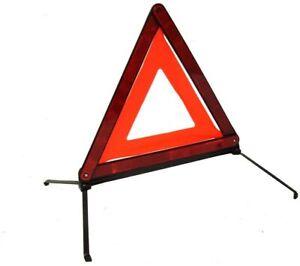 Large Reflective Car Warning Triangle Breakdown Hazard Road EU Emergency Light