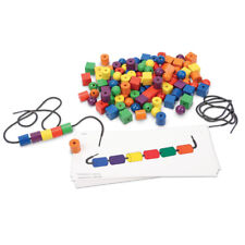 Learning Resources Beads & Pattern Cards 108 Beads 20 Cards 2 Laces 0139