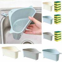Kitchen Bathroom Sponge Sink Tidy Holder Storage Rack Strainer Organizer Basket