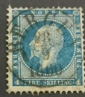 1856: perf 4s - blue : used nice example