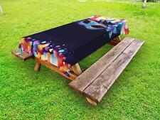 Venice Outdoor Picnic Tablecloth in 3 Sizes Washable Waterproof