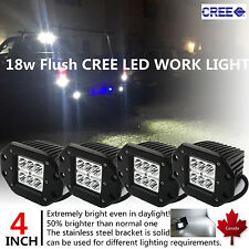 4PCS 18W OffRoad Driving Fog Working LED Bar SpotLight Lamp For F150 F250 Sierra